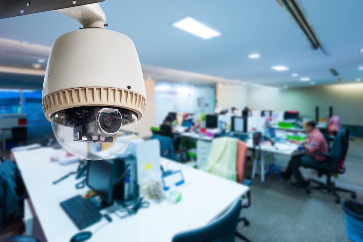 camerabewaking in bedrijf